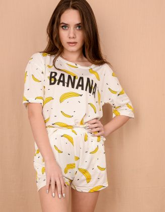 Піжама з принтом бананів | 225703-01-21 - A-SHOP