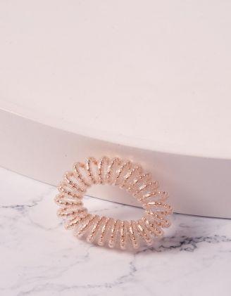 Резинка для волосся спіральна прозора з намистинами | 240278-04-XX - A-SHOP