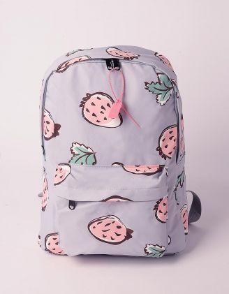 Рюкзак молодіжний з принтом полуниці | 239315-35-XX