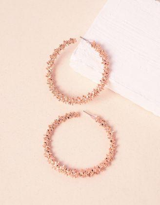 Сережки кільця з рельєфним покриттям | 240859-04-XX - A-SHOP