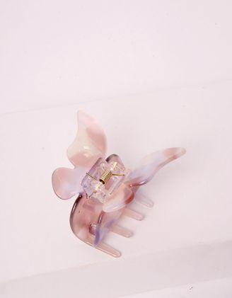 Шпилька для волосся крабік з метеликом | 244455-35-XX - A-SHOP