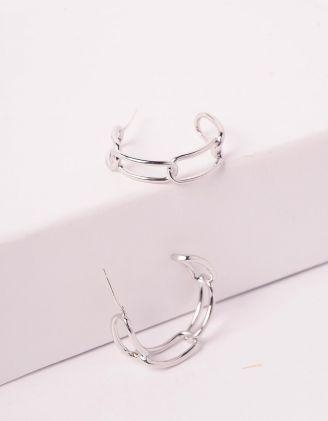 Сережки кільця у вигляді ланцюжка | 240176-05-XX - A-SHOP