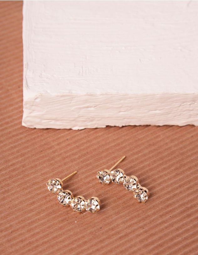 Сережки зі стразами | 240342-08-XX - A-SHOP