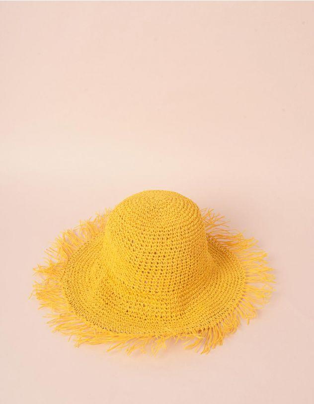 Капелюх плетений з бахромою   241587-19-XX