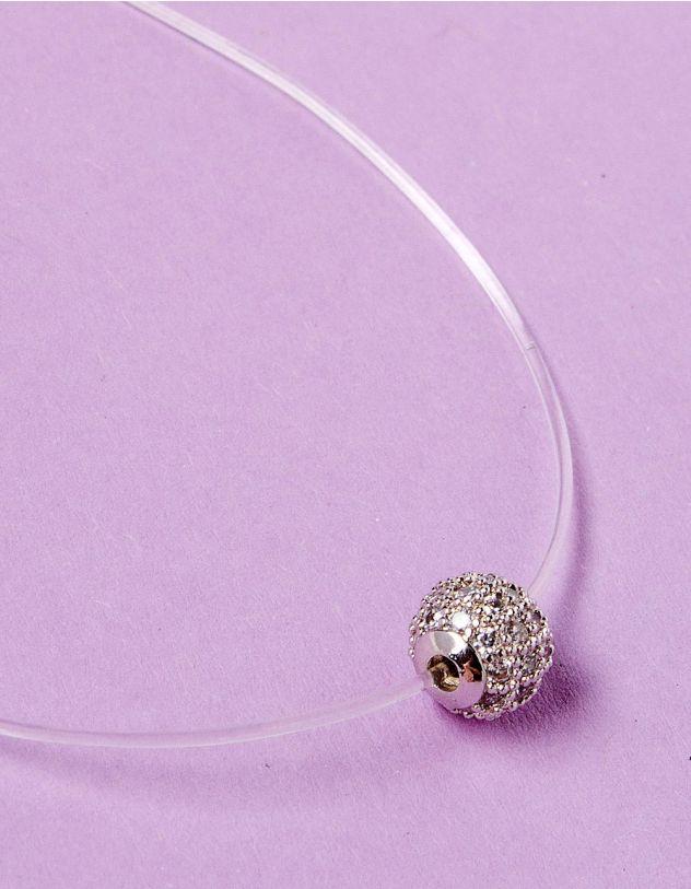 Підвіска з волосіні з кулоном у вигляді кульки з камінцями   229098-05-XX - A-SHOP