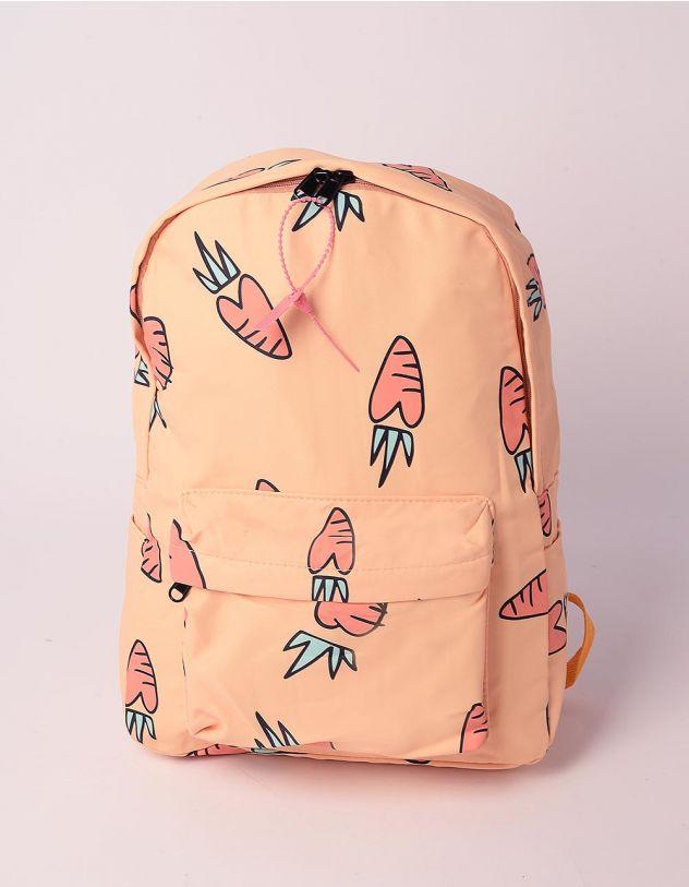 Рюкзак молодіжний з принтом моркви | 240218-19-XX