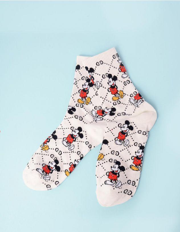 Шкарпетки з принтом Міккі Мауса | 243136-01-XX - A-SHOP