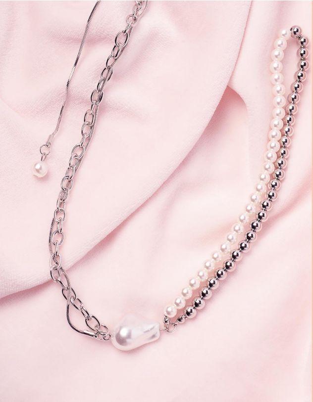 Підвіска із ланцюжка та намистин з перлинами | 245126-06-XX - A-SHOP