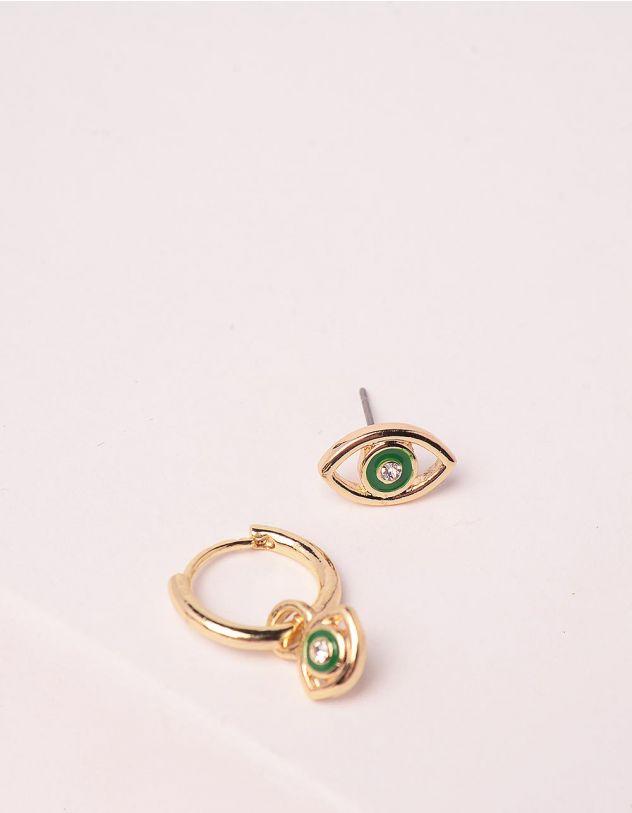 Сережки із зображенням ока | 246201-57-XX - A-SHOP