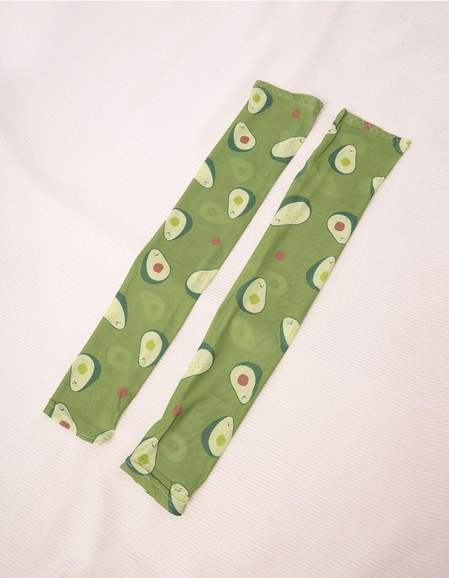 Рукави мітенки з принтом авокадо | 243694-20-XX - A-SHOP
