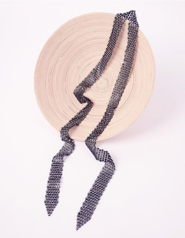 Підвіска на шию у вигляді шарфа декорована камінцями | 245159-02-XX - A-SHOP
