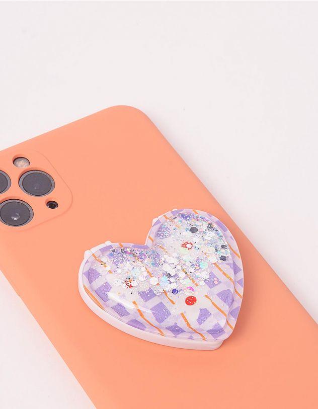Попсокет у вигляді серця з дзеркалом   245075-03-XX - A-SHOP