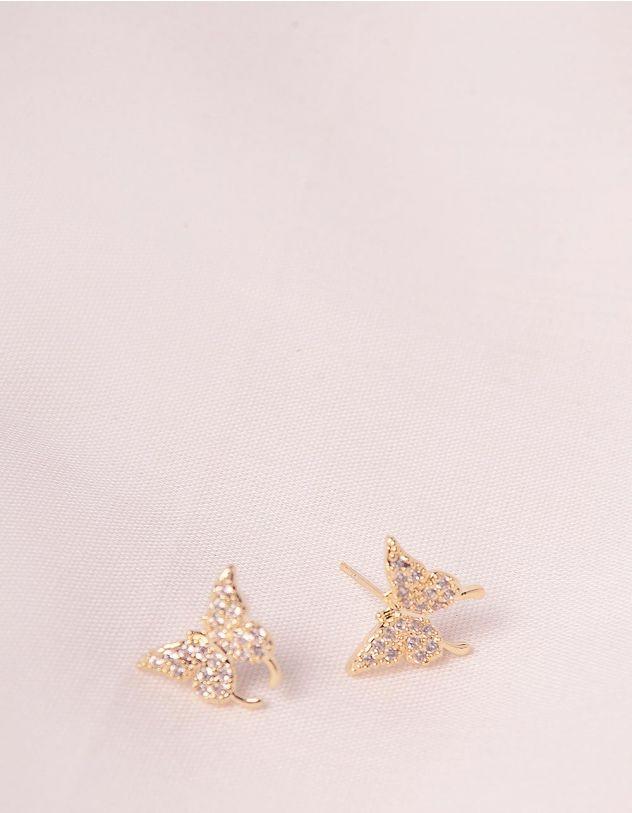 Сережки пусети у вигляді метеликів   247092-08-XX - A-SHOP