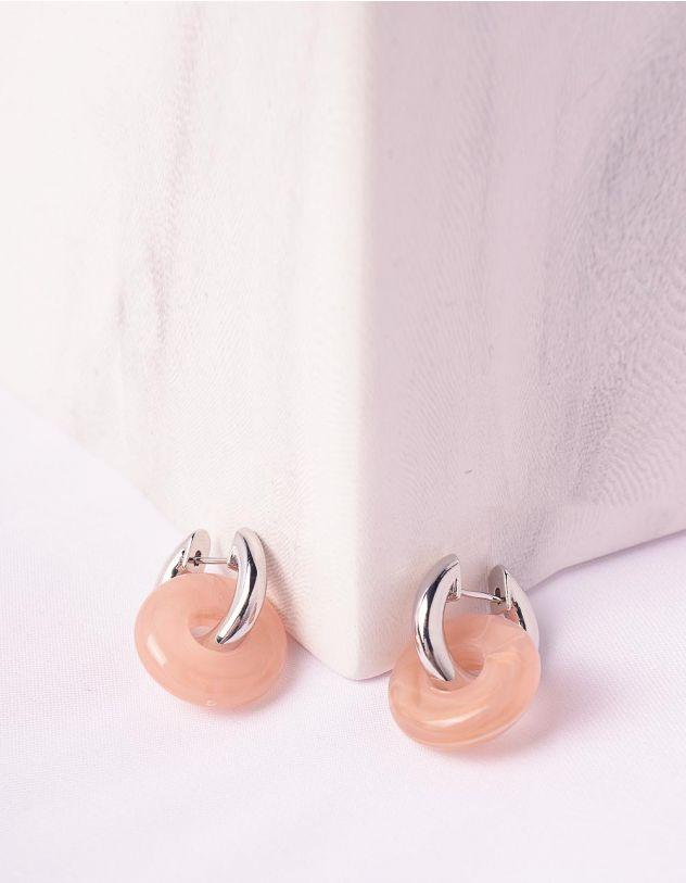 Сережки маленькі з кільцями   246904-44-XX - A-SHOP