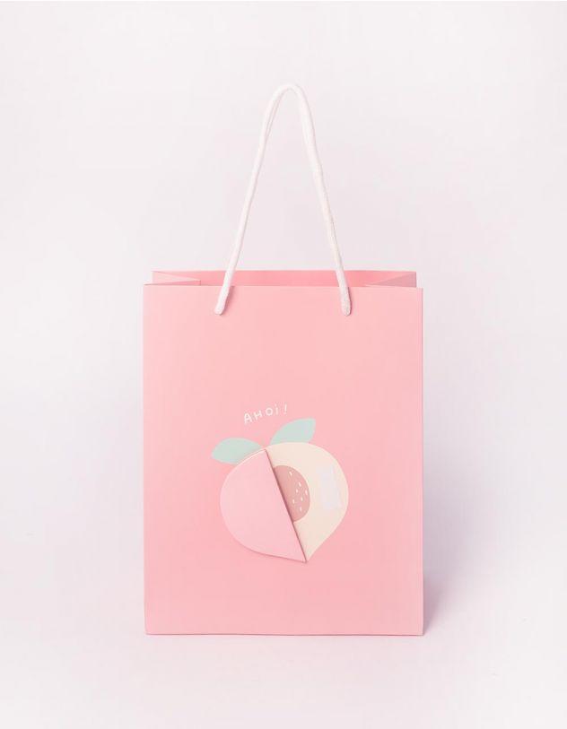 Пакет подарунковий з принтом фруктів | 240700-14-XX