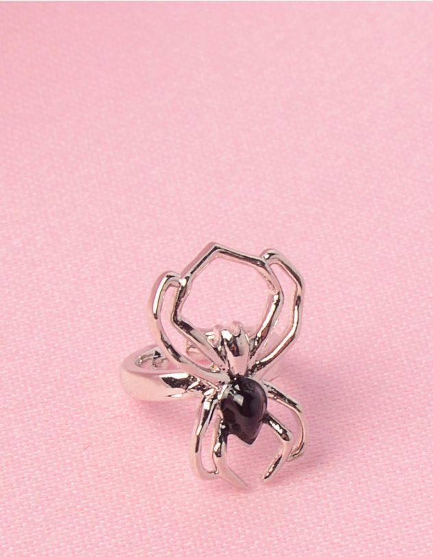 Сережка обманка з павуком | 249726-07-XX - A-SHOP