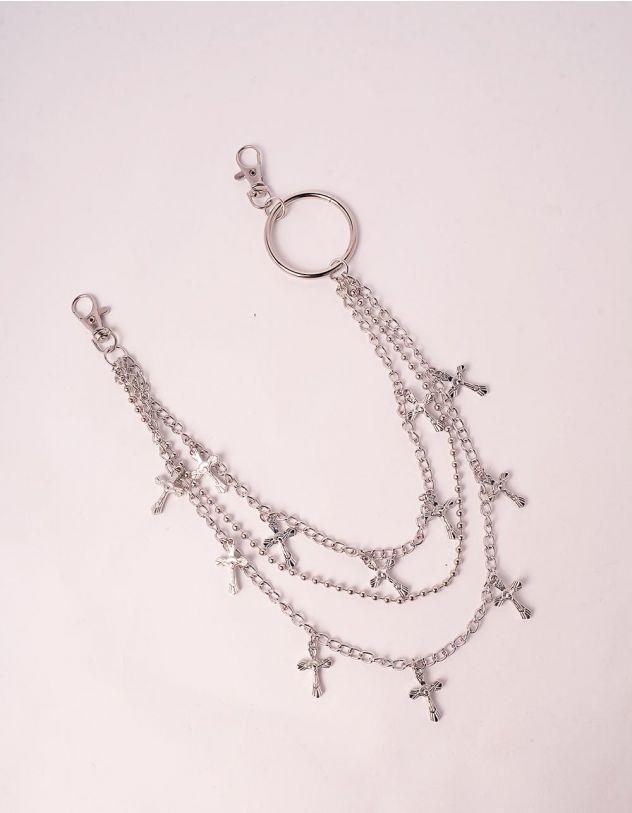 Ланцюжок на одяг багатошаровий з хрестами | 246386-05-XX - A-SHOP