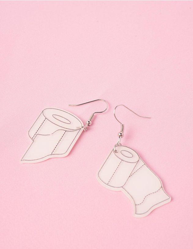 Сережки із зображенням туалетного паперу   249187-01-XX - A-SHOP