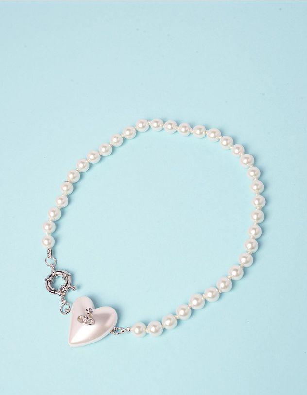 Підвіска на шию із перлин з серцем   248104-06-XX - A-SHOP