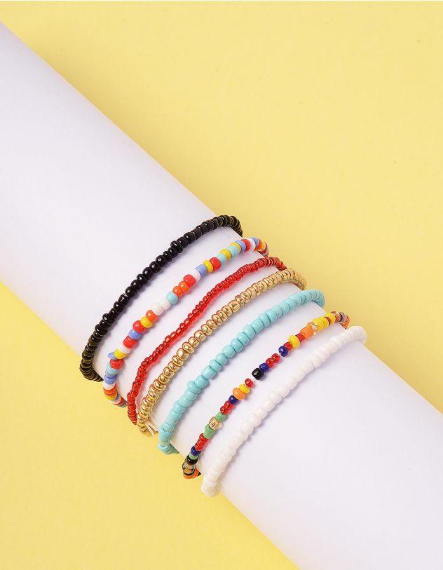Браслет на руку у наборі із кольорових намистин | 244524-21-XX - A-SHOP