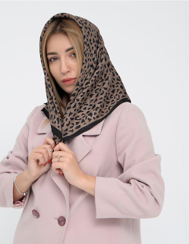 Хустка на шию з леопардовим принтом | 249870-12-XX - A-SHOP
