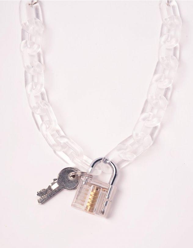 Підвіска ланцюжок на шию з замком та ключами   244063-01-XX - A-SHOP