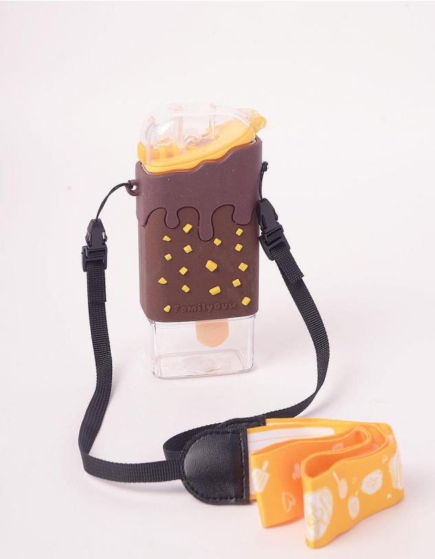 Пляшечка на 300мл  у вигляді морозива  з трубочкою та  ремінцем | 246395-12-XX - A-SHOP