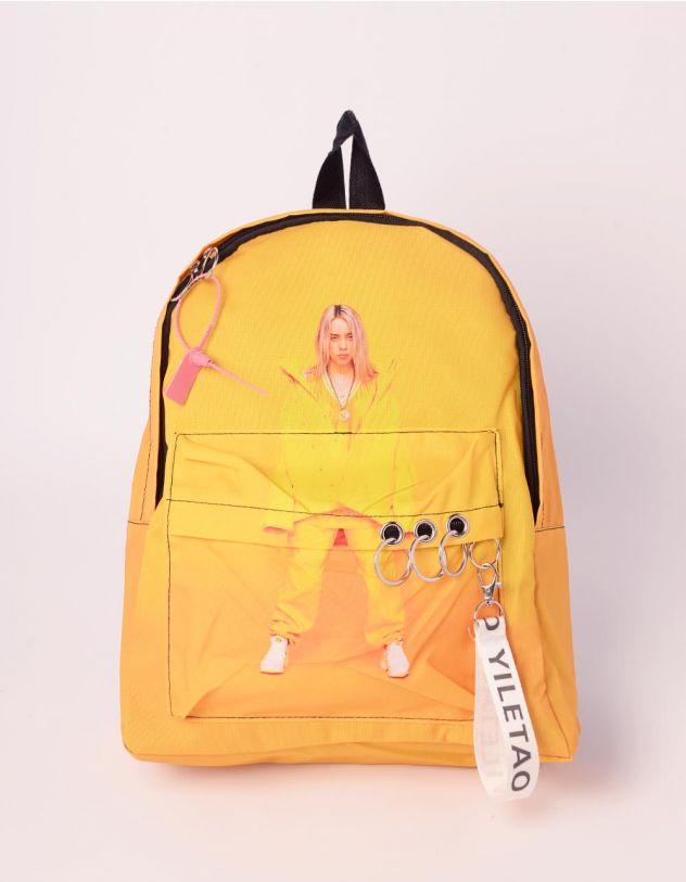 Рюкзак молодіжний з принтом BILLIE EILISH | 240620-19-XX