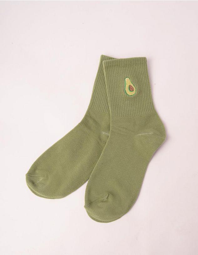 Шкарпетки з принтом авокадо | 246747-37-XX - A-SHOP