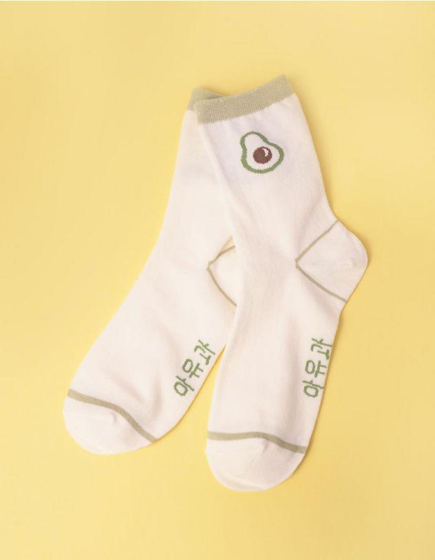 Шкарпетки з принтом авокадо | 247545-01-XX - A-SHOP