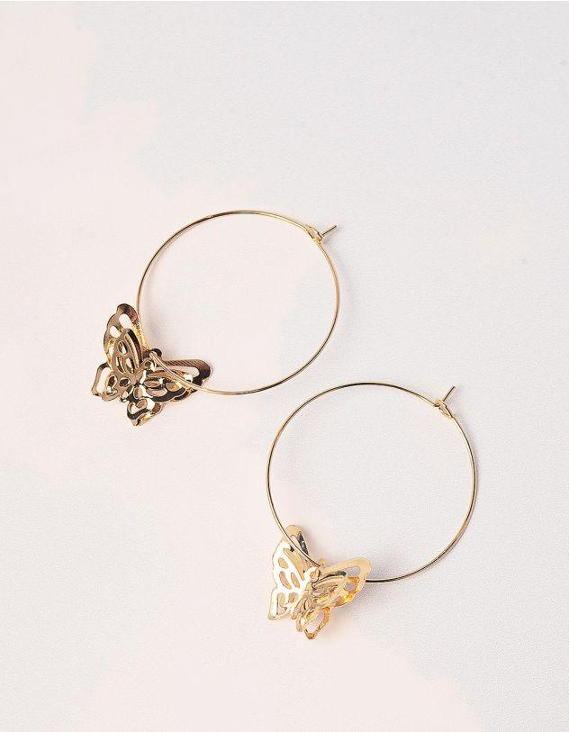 Сережки з метеликами | 246181-04-XX - A-SHOP