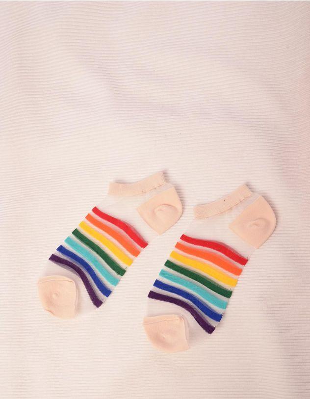 Шкарпетки прозорі у смужку | 244209-22-XX - A-SHOP