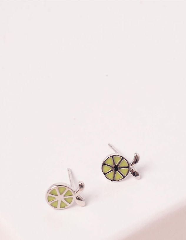 Сережки пусети з лимоном | 246340-05-XX - A-SHOP