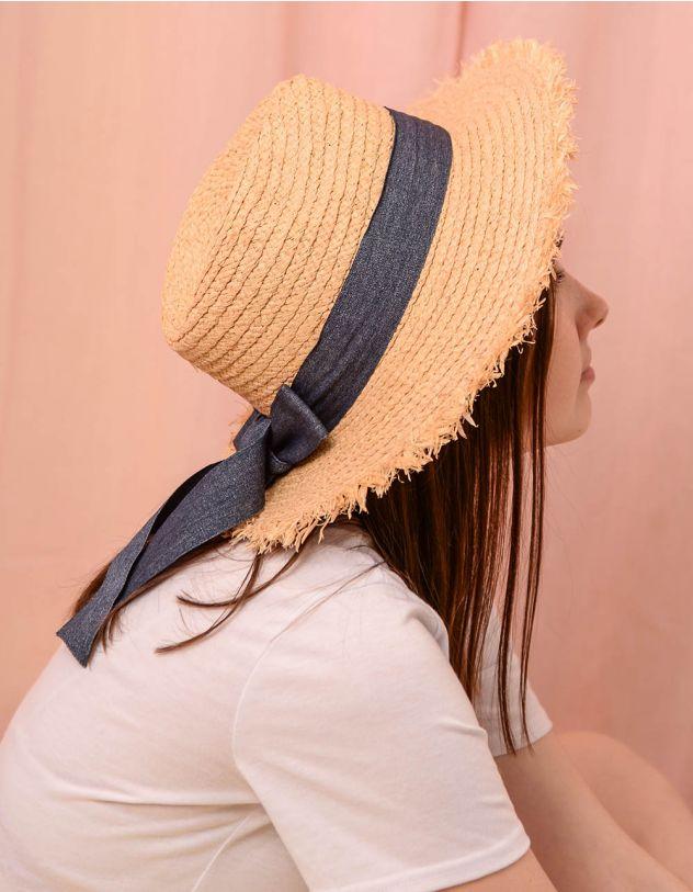 Капелюх плетений зі стрічкою та бантом | 241585-22-XX - A-SHOP