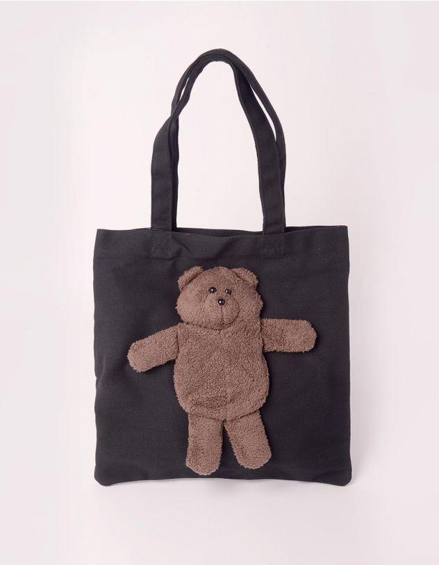 Сумка шопер з ведмедиком   245835-02-XX - A-SHOP
