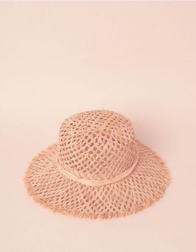 Капелюх плетений зі стрічкою із штучної соломи   241583-22-XX