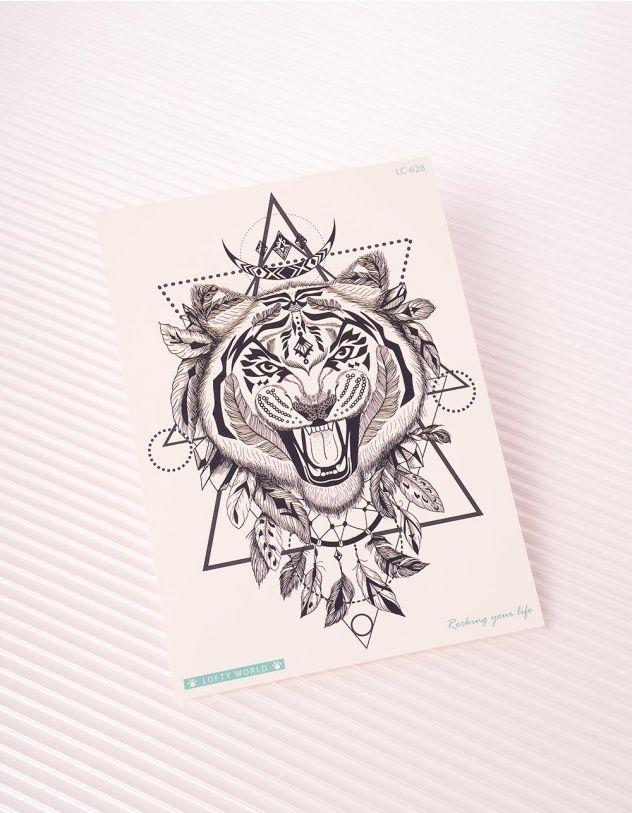 Татуювання тимчасове у вигляді тигра | 243346-02-XX - A-SHOP