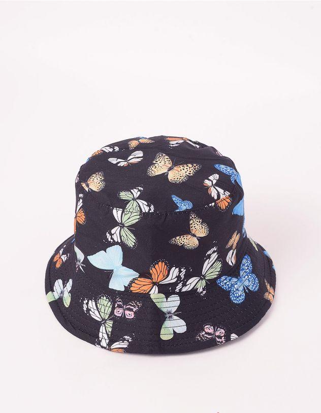 Панама з принтом метеликів | 244393-02-XX - A-SHOP