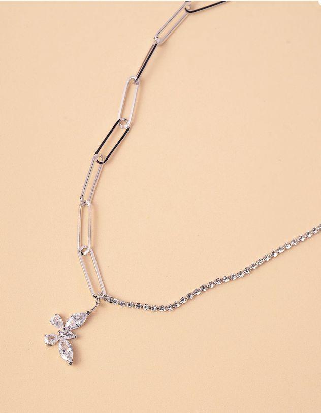 Підвіска на шию із ланцюжка з кулоном у вигляді метелика   245625-06-XX - A-SHOP