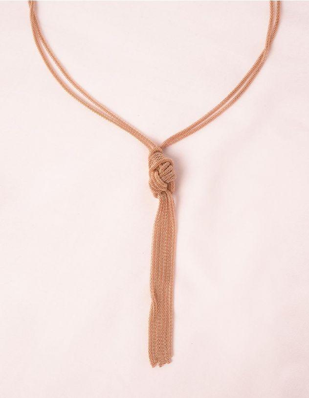 Підвіска на шию довга із ланцюжків з вузлом | 248656-04-XX - A-SHOP
