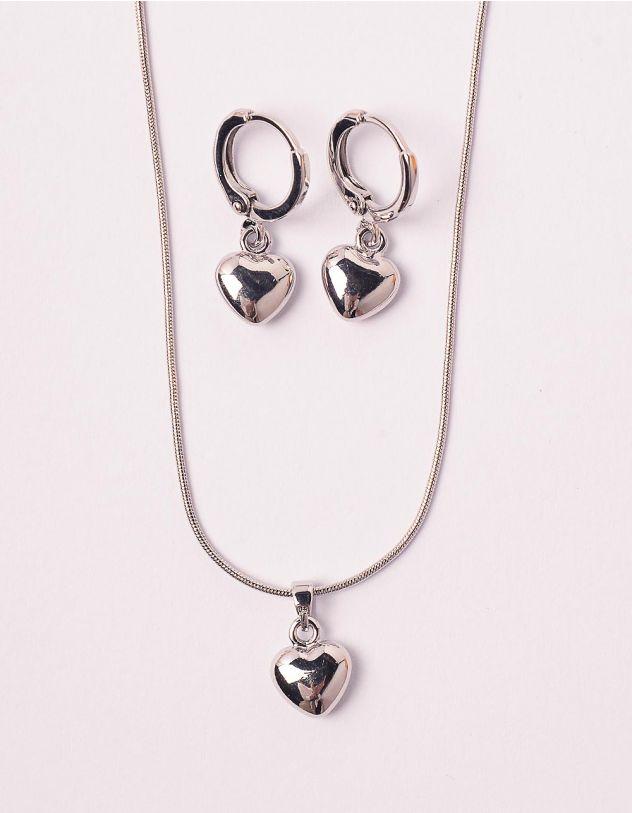 Комплект із підвіски та сережок з підвісками у вигляді сердець | 248830-05-XX - A-SHOP