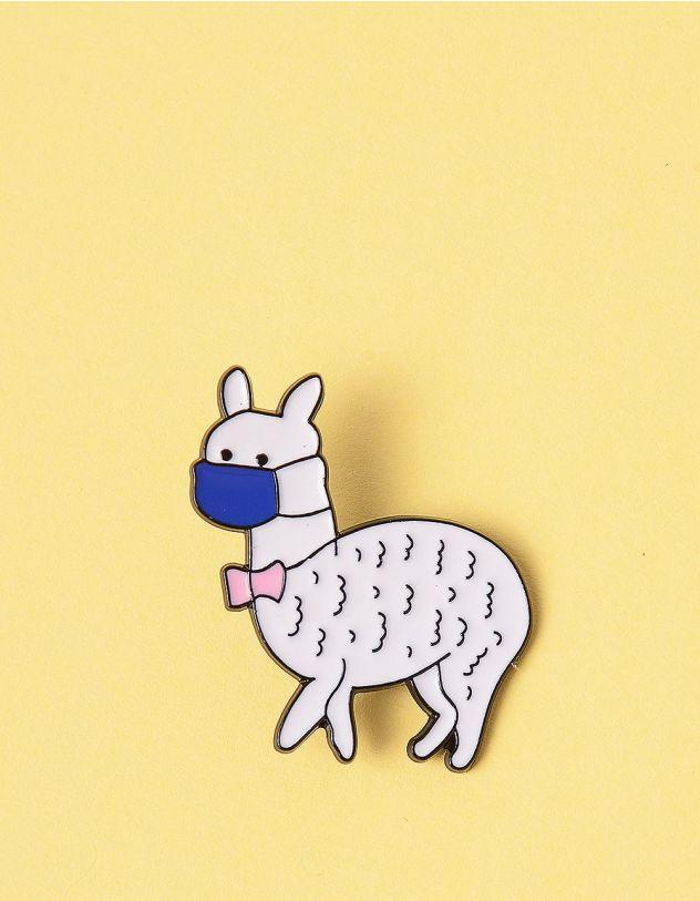 Брошкау вигляді альпака у масці | 245700-01-XX - A-SHOP