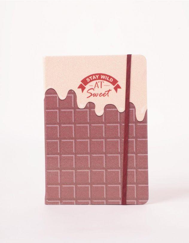 Блокнот у лінію з принтом шоколадки | 245419-22-XX - A-SHOP