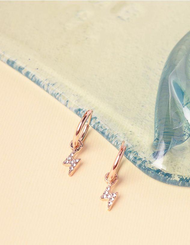 Сережки кільця з підвісками у вигляді блискавок   240850-08-XX - A-SHOP