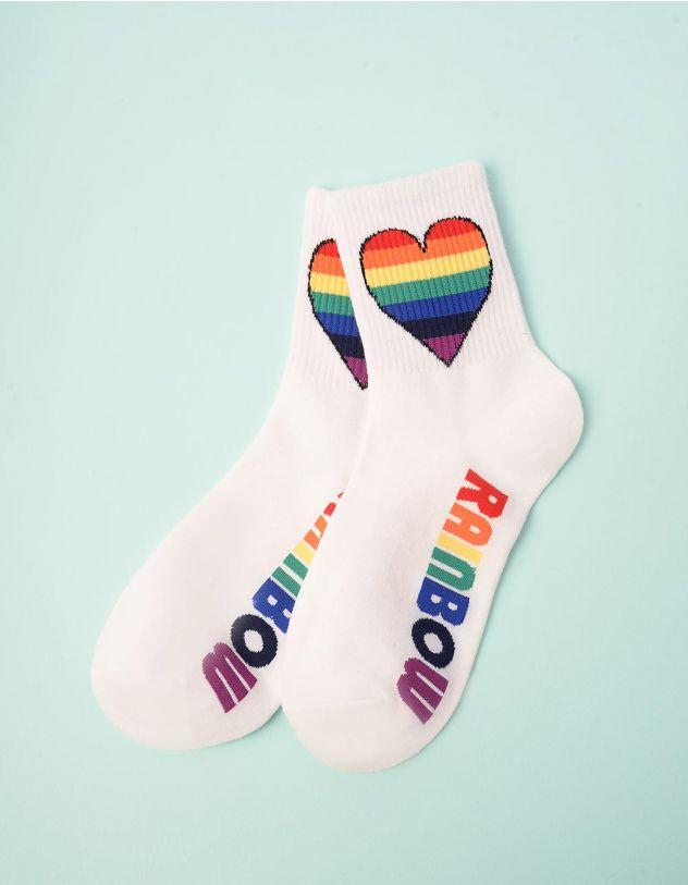 Шкарпетки з принтом серця | 247073-01-XX - A-SHOP