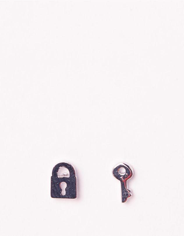 Сережки пусети у вигляді ключа та замка   241661-05-XX - A-SHOP