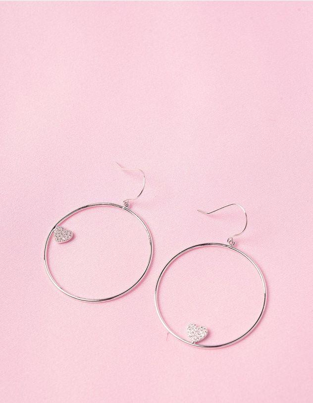 Сережки кільця з серцями | 244647-06-XX - A-SHOP
