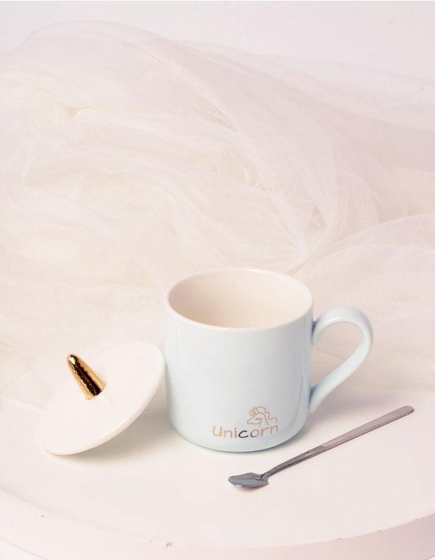 Чашка з рогом єдинорога та ложкою | 239031-18-XX - A-SHOP