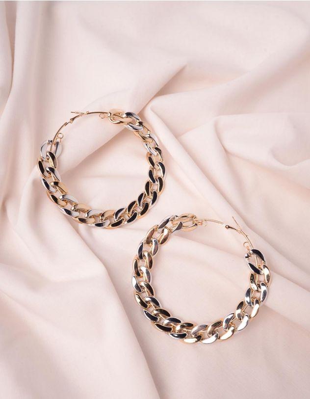 Сережки кільця у вигляді ланцюжка | 246284-08-XX - A-SHOP