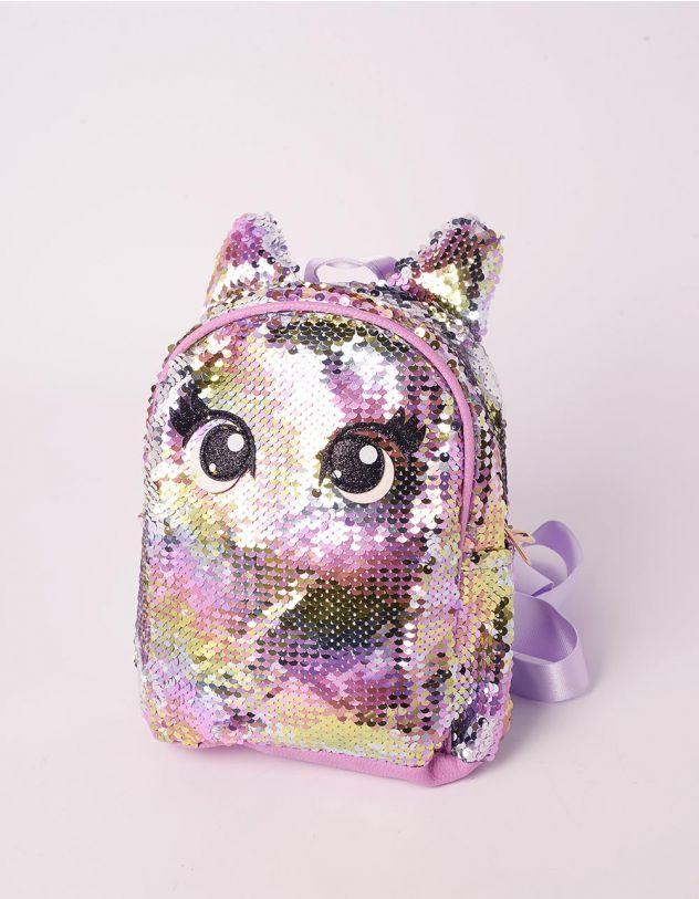 Рюкзак для прогулянок із паєток з вушками та очима | 239368-35-XX